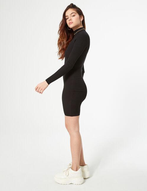 robe pull maille côtelée