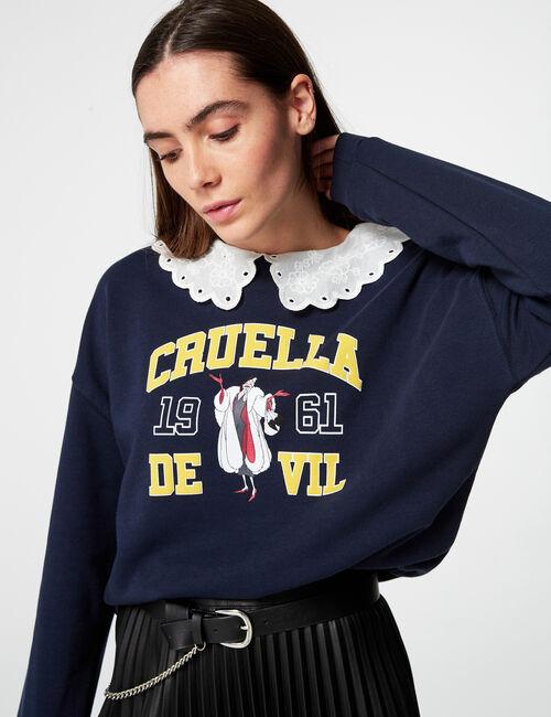 Sweat Cruella avec col