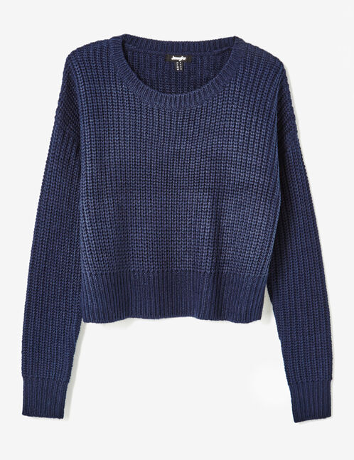 Cropped navy blue jumper