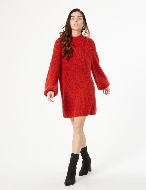 Long high-necked jumper