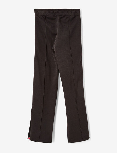 Black joggers with side stripe detail