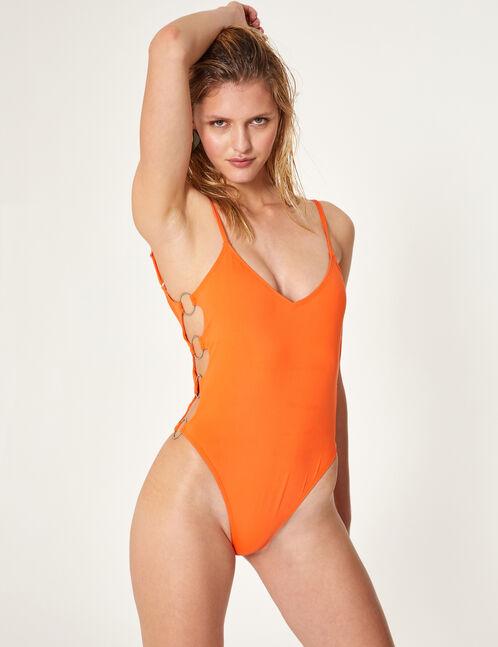 maillot de bain avec anneaux orange