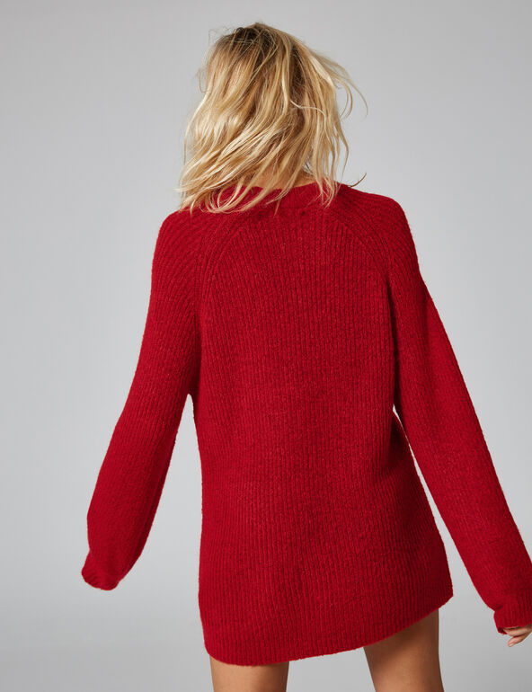 Long red jumper
