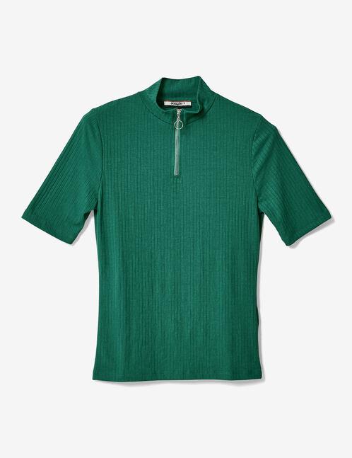 tee-shirt zippé vert