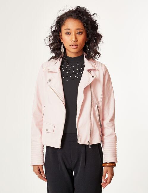 Light pink biker jacket
