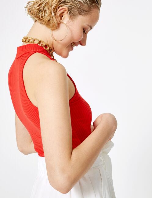 short avec ceinture à nouer blanc