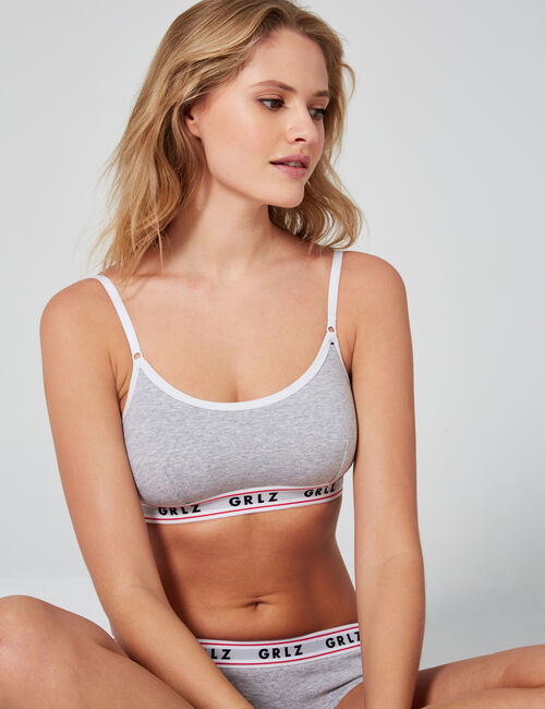 Bra top with slogan