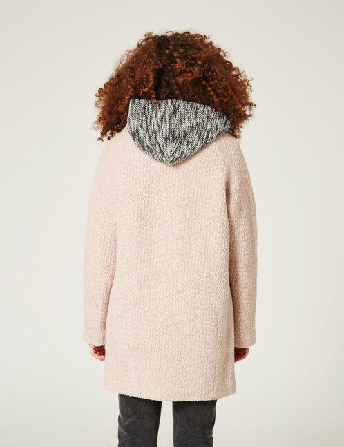 Nude wool coat