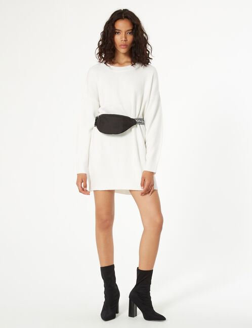 Long cashmere feel sweater