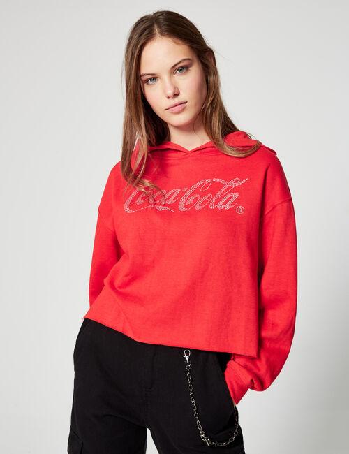 Coca-Cola rhinestone hoodie