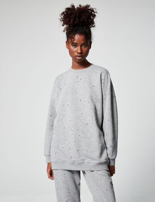 Spot print sweatshirt