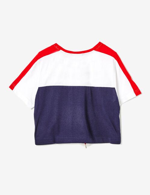tee-shirt nothing to loose blue marine, blanc et rouge