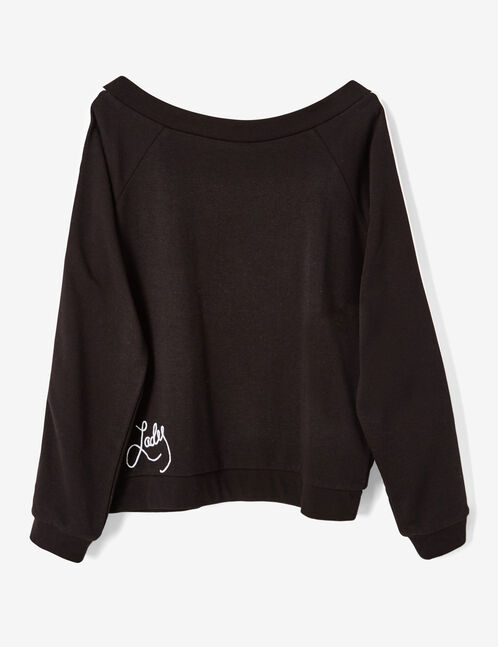 "Black ""lady"" sweatshirt"
