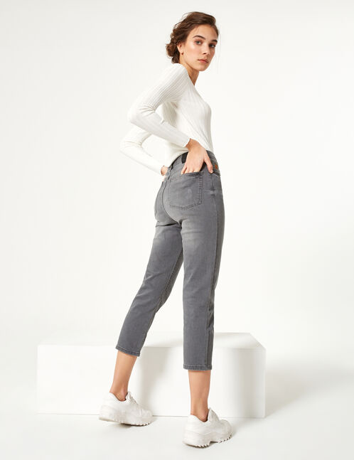 jean straight droit gris