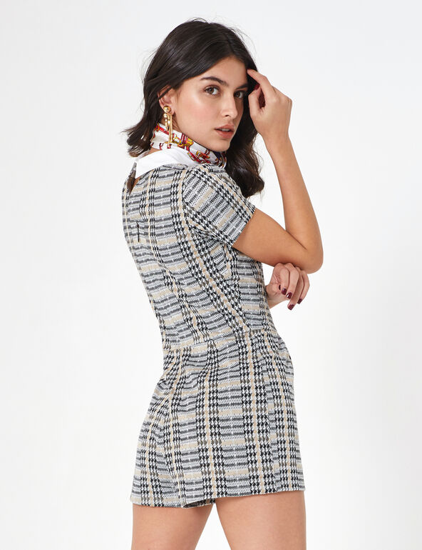 Houndstooth playsuit