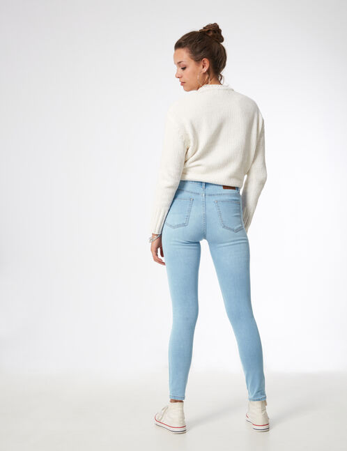 Light blue jeans with beading detail