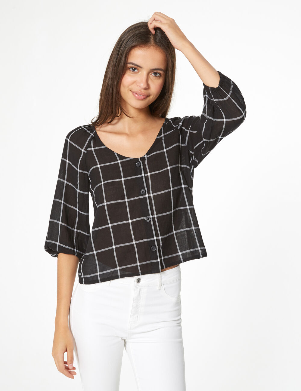 site professionnel acheter mieux site autorisé blouse à carreaux