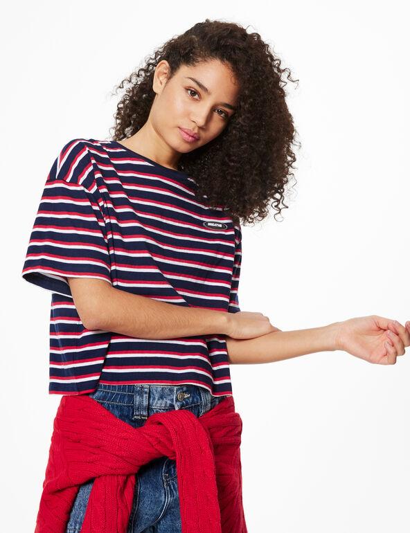 Striped 'breathe' T-shirt