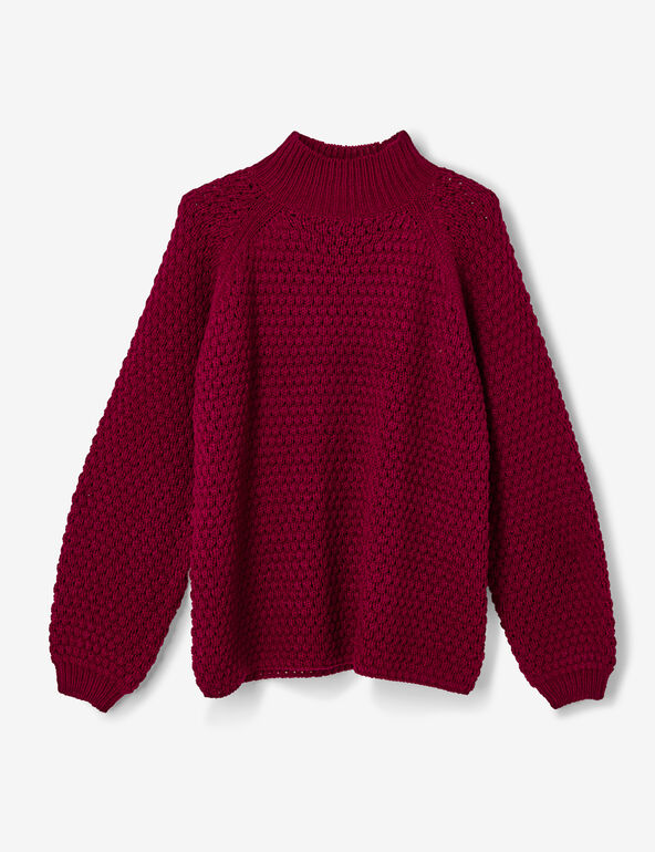 Burgundy textured jumper