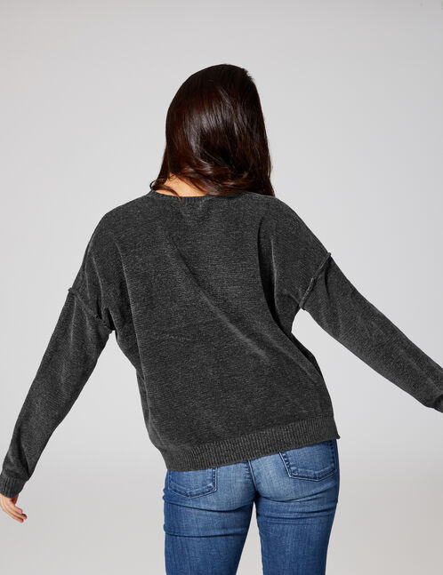 Charcoal chenille jumper