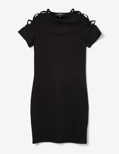 Black dress with lacing detail
