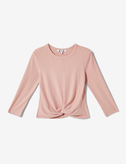 Light pink knot-effect top