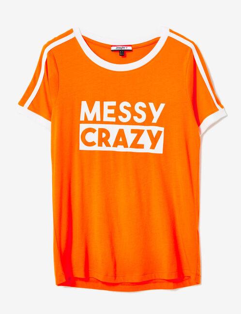tee-shirt à message orange