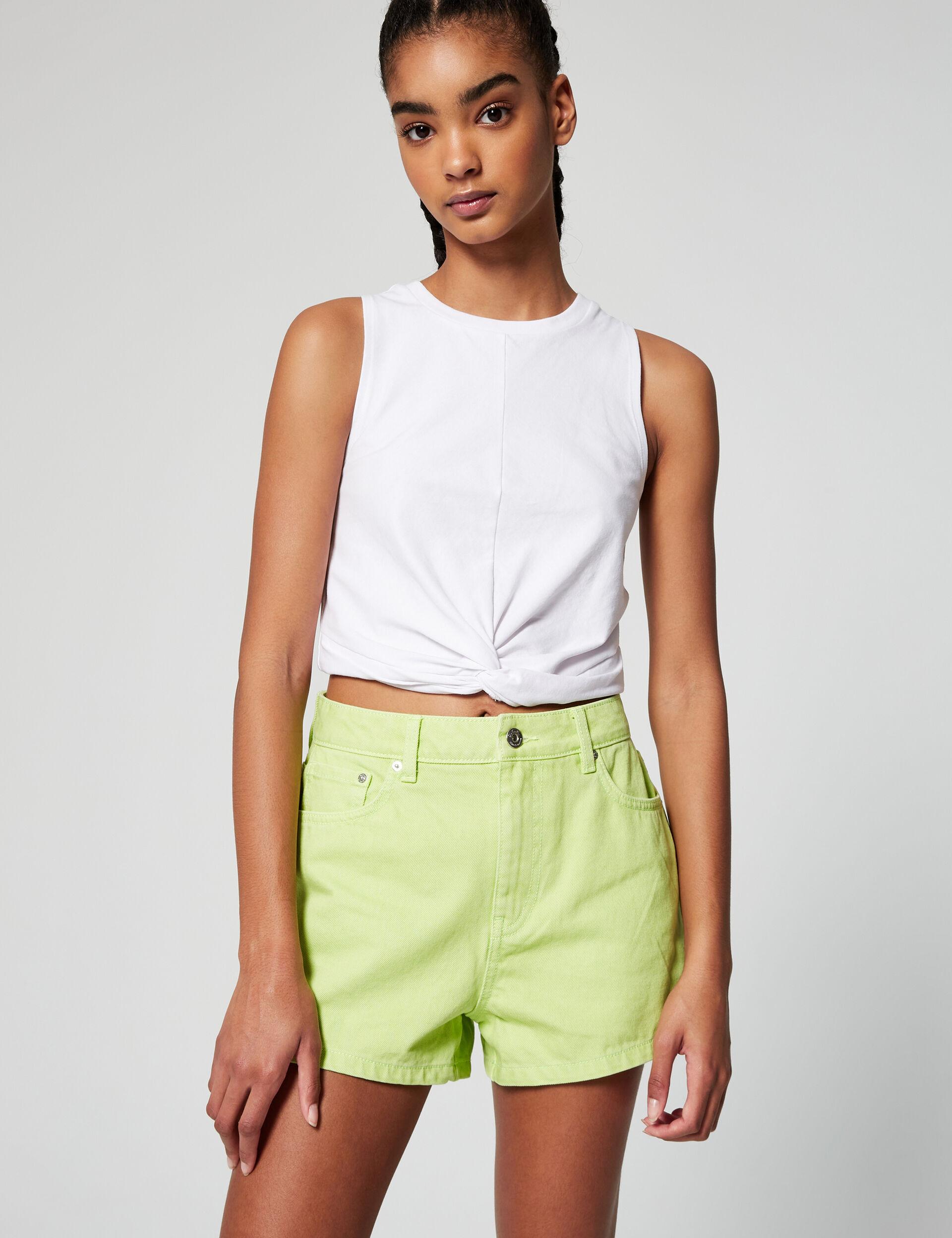 High-waisted mom shorts