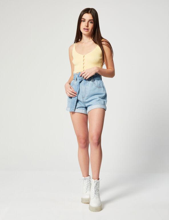 Short  en jean paperbag