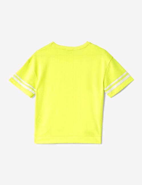 sweat manches courtes jaune fluo
