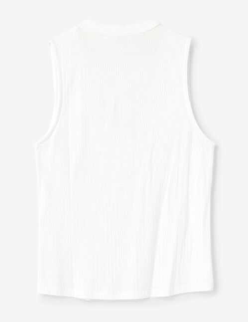 tee shirt avec ouverture blanc