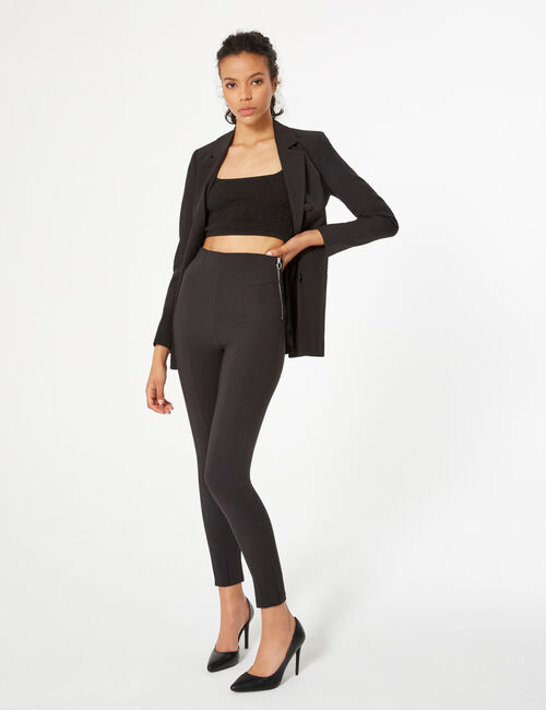 Zippered dress pants