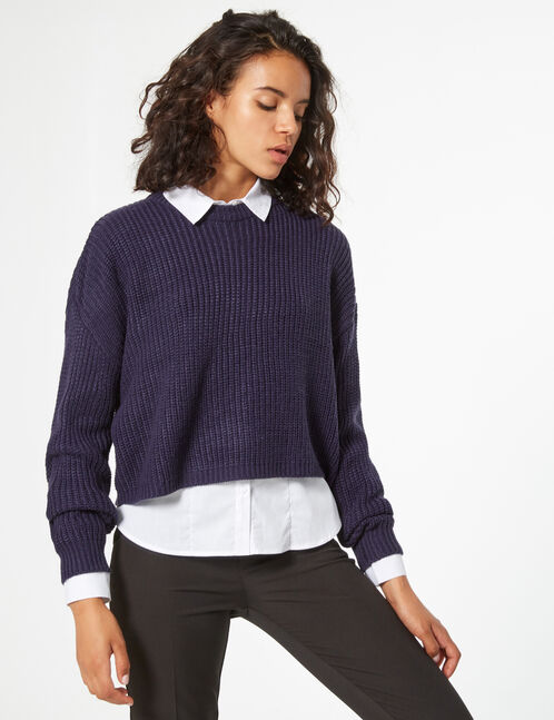 Loose-fit knit jumper