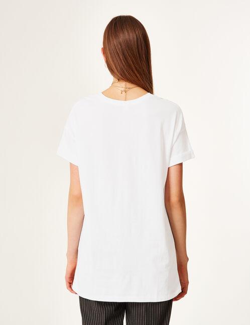 tee-shirt long blanc