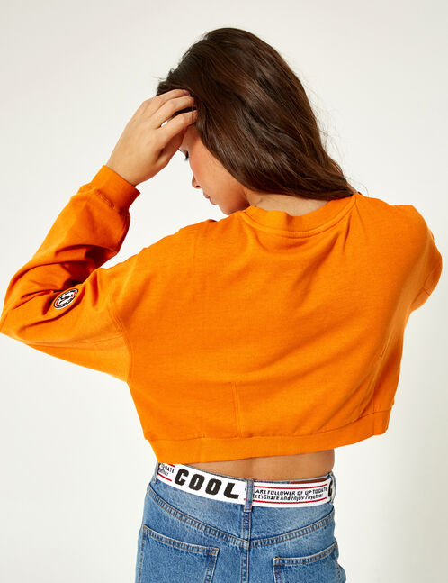 Cropped orange sweatshirt