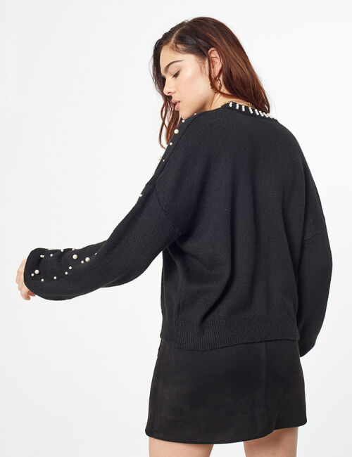 Jumper with beading detail