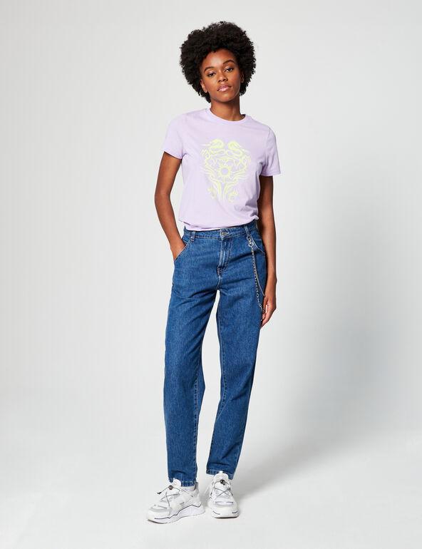 Tee-shirt loose à motifs