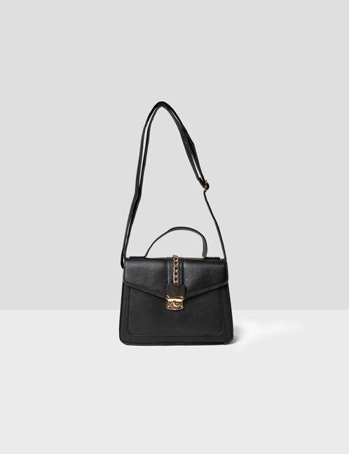 sac à main avec chaînette noir