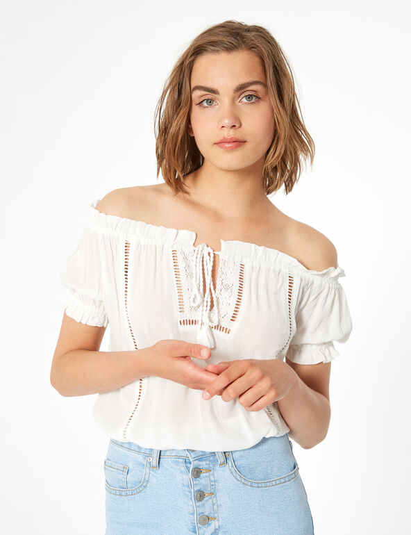 Macramé blouse