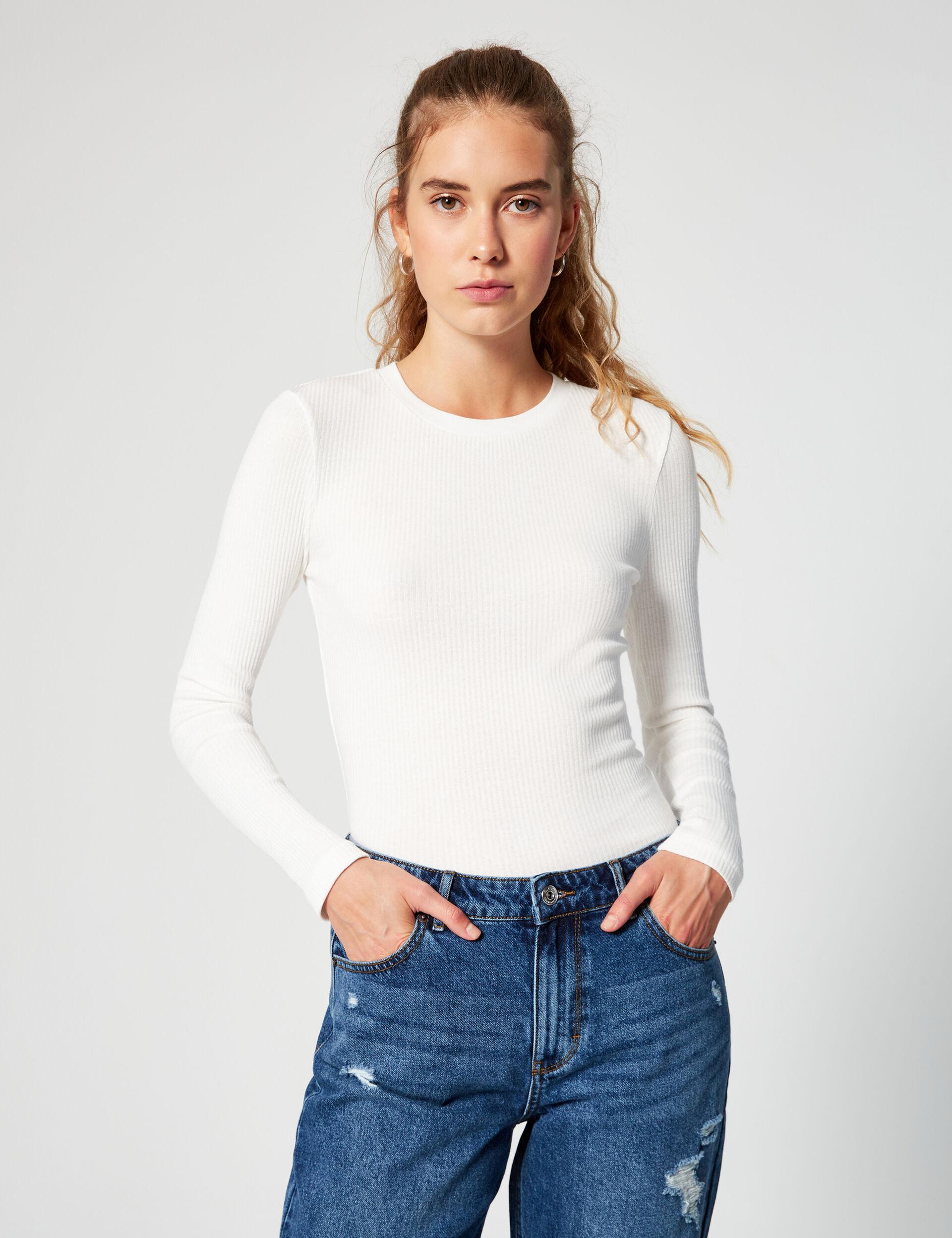 Tee-shirt basic côtelé