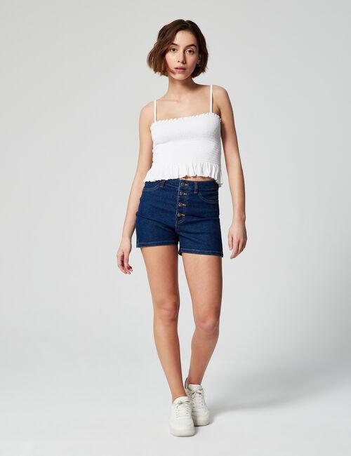Short jegging en jean