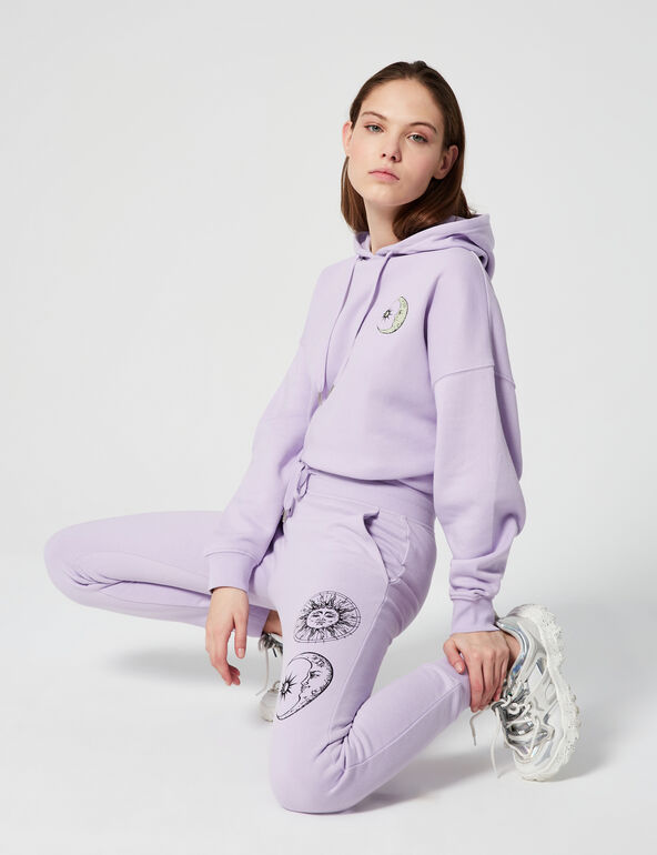 Joggers with motifs