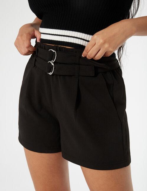 short double belted dress slacks