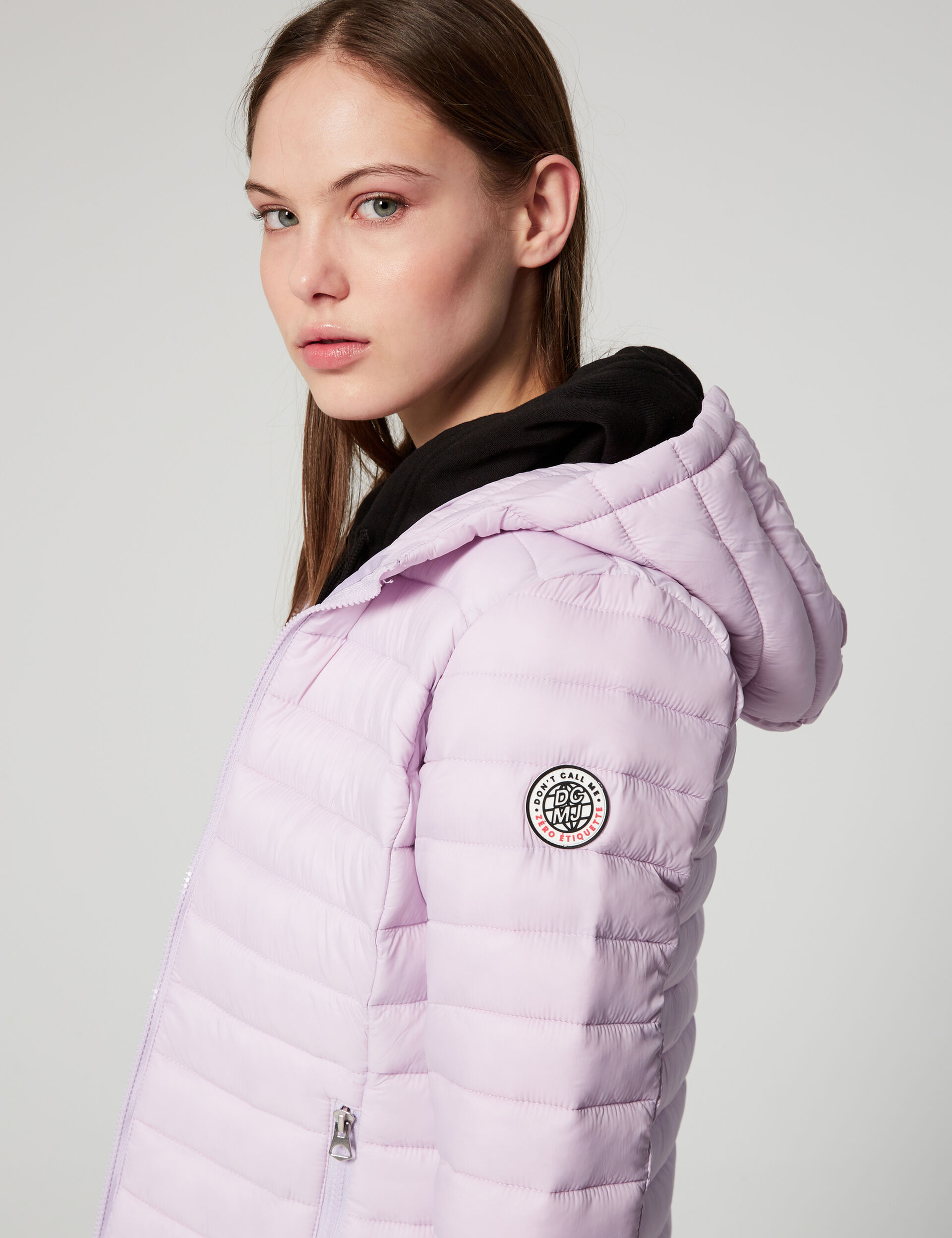 Lightweight padded jacket with hood