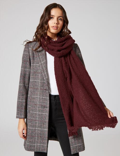 Plum textured scarf