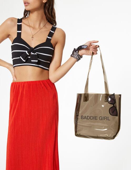 sac transparent baddie girl noir