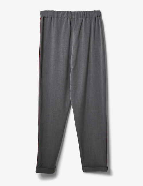 Grey marl trousers with side stripe detail