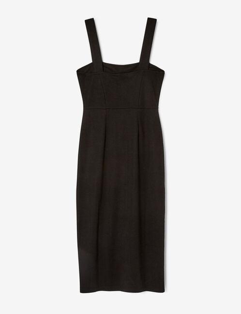 robe longue avec boutons noire