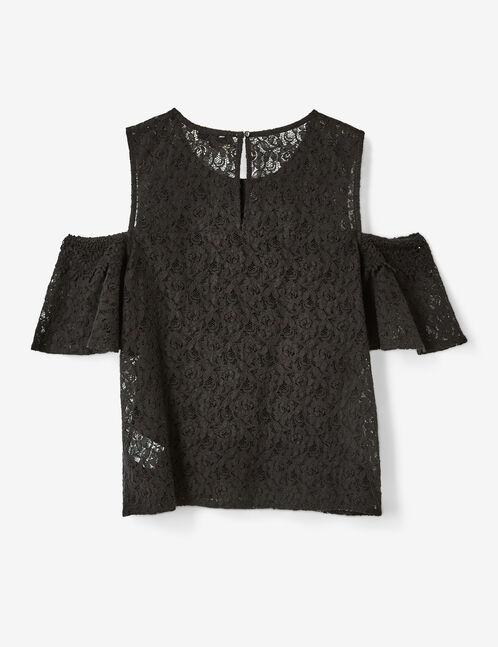 blouse en dentelle noire