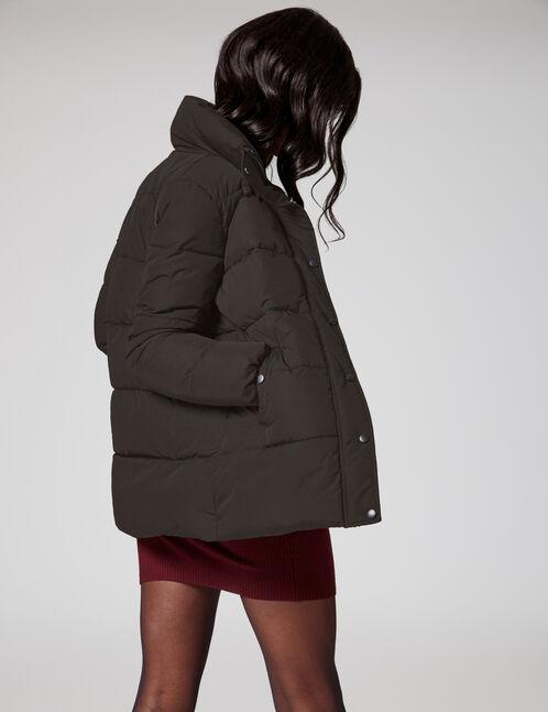Long black padded jacket